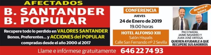 Conferencia jueves 24 de enero en Sevilla