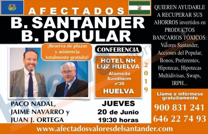 Conferencia en Huelva el próximo jueves 20 de junio