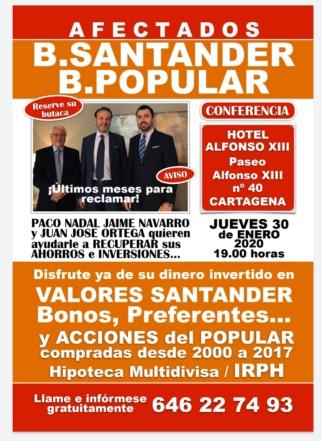Nueva conferencia en Cartagena el próximo 30 de enero